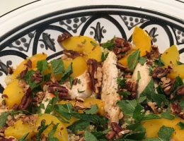 couscous met perzik en kip
