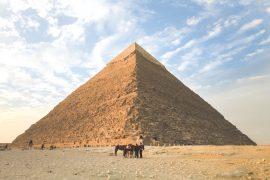 foto van een piramide